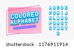 colored alphabet template... | Shutterstock .eps vector #1176911914