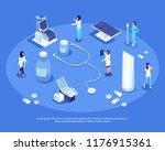 isometric set of medical... | Shutterstock .eps vector #1176915361