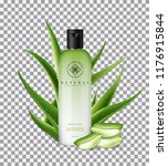 aloe vera body cream  with... | Shutterstock .eps vector #1176915844