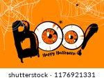 happy halloween banner... | Shutterstock .eps vector #1176921331