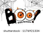 boo. happy halloween banner... | Shutterstock .eps vector #1176921334
