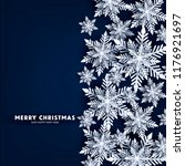 blue merry christmas greetings... | Shutterstock .eps vector #1176921697