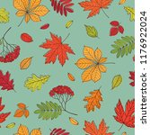 fall of the leaves. background... | Shutterstock .eps vector #1176922024