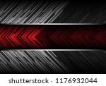 abstract red banner on gray... | Shutterstock .eps vector #1176932044