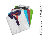 t shirt mockup  folded and... | Shutterstock . vector #1176933751