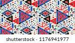 geometric folklore hipster... | Shutterstock .eps vector #1176941977