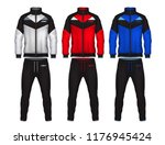 sport track suit design... | Shutterstock .eps vector #1176945424