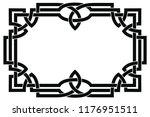 frame celtic national ornament...   Shutterstock .eps vector #1176951511