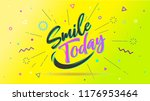 smile today. cover banner and... | Shutterstock .eps vector #1176953464