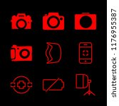 9 photographing icons with... | Shutterstock .eps vector #1176955387