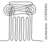 one line drawing ancient greek... | Shutterstock .eps vector #1176956401