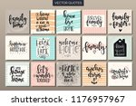 hand drawn typography posters... | Shutterstock .eps vector #1176957967