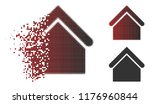 base building icon in sparkle ... | Shutterstock .eps vector #1176960844