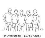 continuous line drawing of a... | Shutterstock .eps vector #1176972067