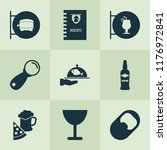 drink icons set with ale sign ... | Shutterstock .eps vector #1176972841