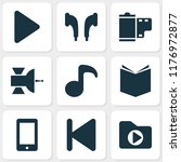 multimedia icons set with...   Shutterstock .eps vector #1176972877