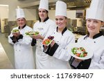 happy chef's presenting their... | Shutterstock . vector #117698407