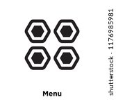 menu icon vector isolated on...