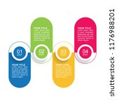 infographic template with... | Shutterstock .eps vector #1176988201