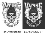 vaping apparel design with... | Shutterstock .eps vector #1176992377