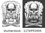 vaping apparel design with... | Shutterstock .eps vector #1176992404