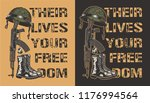 army motivational poster with... | Shutterstock .eps vector #1176994564