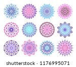 mandala vector design elements. ... | Shutterstock .eps vector #1176995071