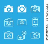 photographing icons set with... | Shutterstock .eps vector #1176996661