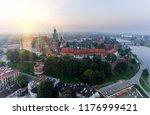 aerial view royal wawel castle... | Shutterstock . vector #1176999421