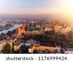 aerial view royal wawel castle... | Shutterstock . vector #1176999424