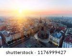 krakow market square  aerial... | Shutterstock . vector #1176999427