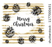 hand drawn christmas card with...   Shutterstock .eps vector #1177000651