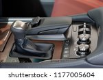 interior of new modern car with ... | Shutterstock . vector #1177005604