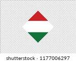 hungary national flag diamond... | Shutterstock .eps vector #1177006297