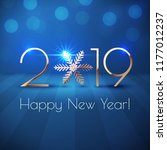happy new year 2019 text design.... | Shutterstock .eps vector #1177012237