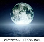 moon with sea | Shutterstock . vector #1177021501