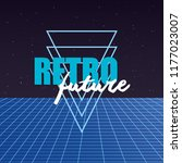 retro future label with... | Shutterstock .eps vector #1177023007