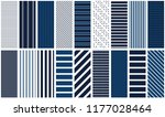 navy stripes. set of 18... | Shutterstock .eps vector #1177028464