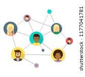 network flat design icon   Shutterstock .eps vector #1177041781