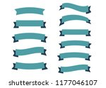 glossy vintage ribbon . banner... | Shutterstock . vector #1177046107