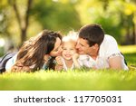 happiness and harmony in family ... | Shutterstock . vector #117705031