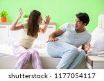 woman and man in the bedroom... | Shutterstock . vector #1177054117
