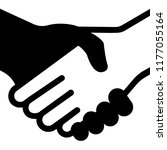 icon of handshake. vector...