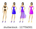 set of fashionable clothes ... | Shutterstock .eps vector #117706501