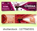 cinema banner set. vector retro ... | Shutterstock .eps vector #1177065331