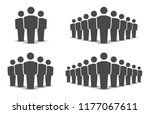 people icons set. team icon.... | Shutterstock .eps vector #1177067611