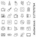 thin line vector icon set  ... | Shutterstock .eps vector #1177070764