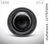 set camera lens object glass... | Shutterstock .eps vector #1177072054