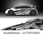 car wrap graphic vector.... | Shutterstock .eps vector #1177072354