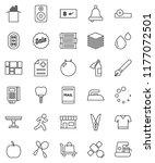 thin line vector icon set  ... | Shutterstock .eps vector #1177072501